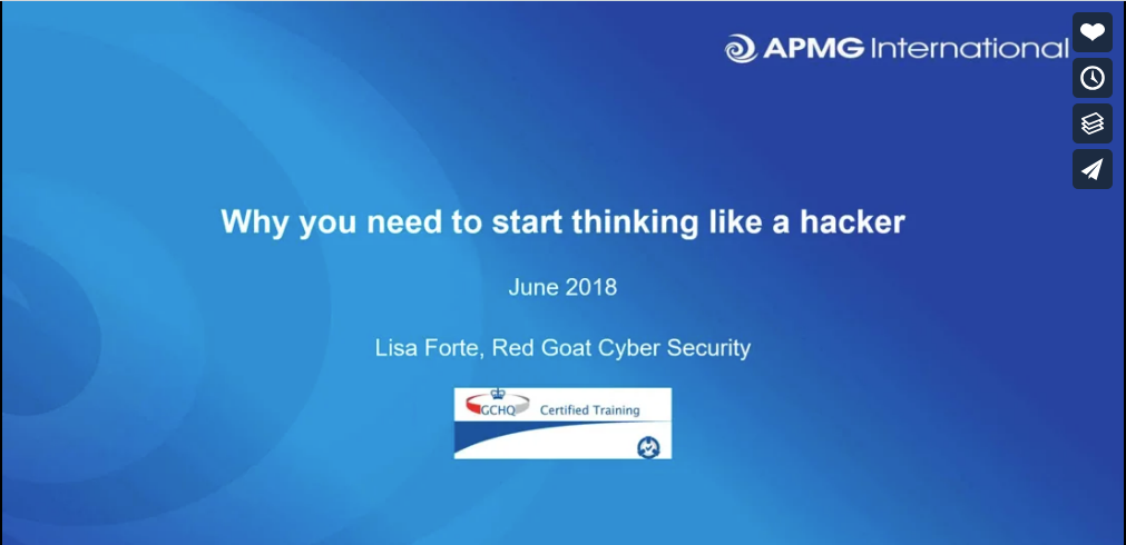 Webinar: Think like a hacker