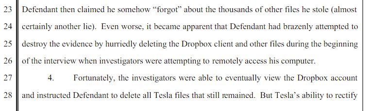 Tesla Insider threat Case